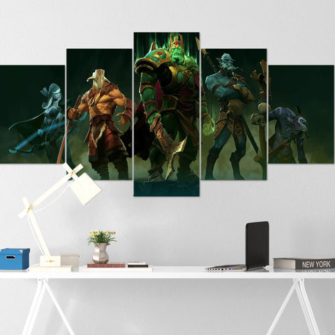 Dota Canvas Wall Art 02 - Dota Poster - 5 Piece Canvas Wall Art - Dota 2 Wall Art - Dota Wall Hang