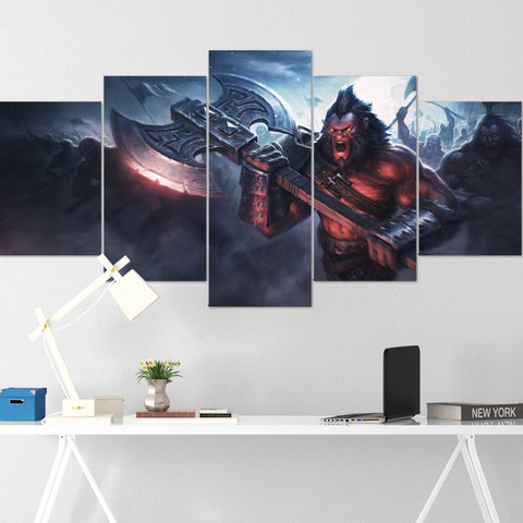 Dota Canvas Wall Art 03 - Dota Poster - 5 Piece Canvas Wall Art - Dota 2 Wall Art - Dota Wall Hang