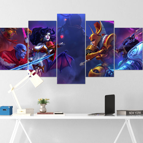 Dota Canvas Wall Art 04 - Dota Poster - 5 Piece Canvas Wall Art - Dota 2 Wall Art - Dota Wall Hang