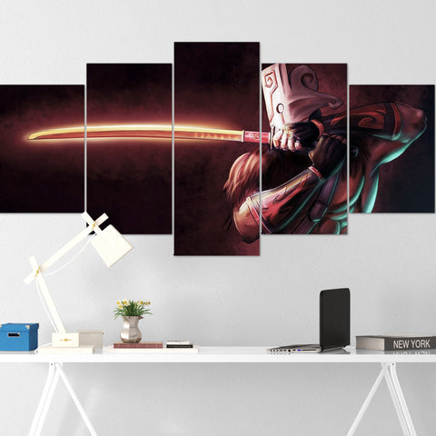 Dota Canvas Wall Art 06 - Juggernaut Canvas Wall Art - Dota Poster - 5 Piece Canvas Wall Art - Dota 2 Wall Art - Dota Wall Hang