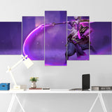 Dota Canvas Wall Art 07 - Void Spirit Canvas Wall Art - Dota Poster - 5 Piece Canvas Wall Art - Dota 2 Wall Art - Dota Wall Hang