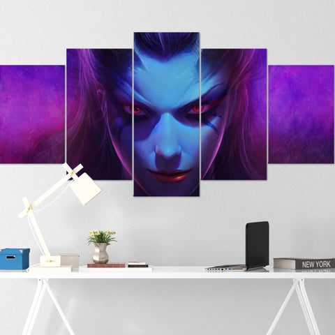 Dota Canvas Wall Art 08 - Queen Of Pain Canvas Wall Art - Dota Poster - 5 Piece Canvas Wall Art - Dota 2 Wall Art - Dota Wall Hang