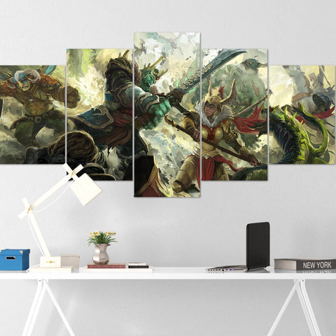Dota Canvas Wall Art 12 - Canvas Wall Art - Dota Poster - 5 Piece Canvas Wall Art - Dota 2 Wall Art - Dota Wall Hang