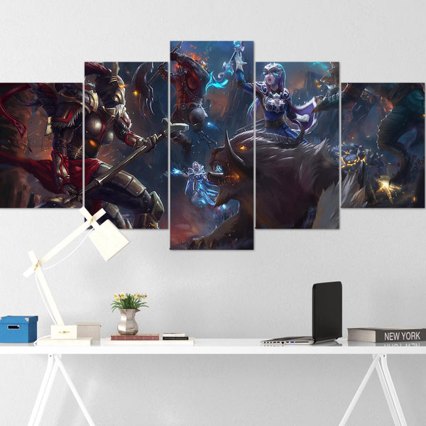 Dota Canvas Wall Art 13 - Canvas Wall Art - Dota Poster - 5 Piece Canvas Wall Art - Dota 2 Wall Art - Dota Wall Hang