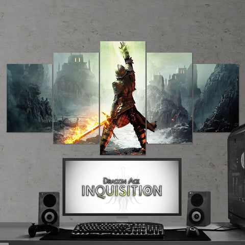 Dragon Age Wall Art - Inquisition 5 Piece Canvas Wall Art Gaming Canvas