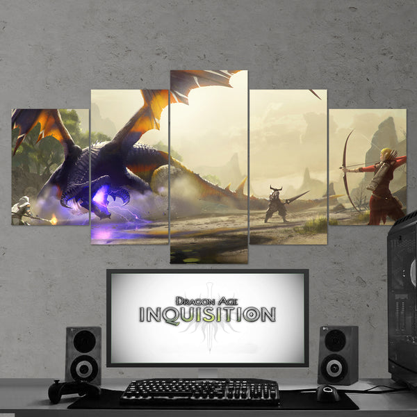 Dragon Age 04 Inquisition 5 Piece Canvas Wall Art Gaming Canvas