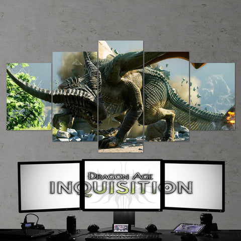 Dragon Age 05 Inquisition 5 Piece Canvas Wall Art Gaming Canvas