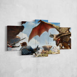 Dragon Age 06 Inquisition 5 Piece Canvas Wall Art Gaming Canvas
