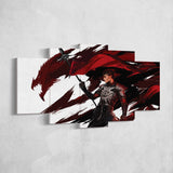 Dragon Age 07 Warrior 5 Piece Canvas Wall Art Gaming Canvas