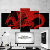 Dragon Age 08 Art Work 5 Piece Canvas Wall Art Gaming Canvas
