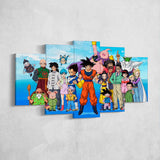 Dragon Ball 02 Anime 5 Piece Canvas Wall Art Gaming Canvas