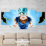 Dragon Ball 03 Vegetto Anime 5 Piece Canvas Wall Art Gaming Canvas