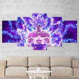 Dragon Ball Canvas 05 Goku Anime 5 Piece Canvas Wall Art Gaming Canvas