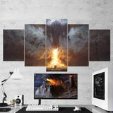 Dragon Fire Canvas - 5 Piece Wall Art Gaming Canvas