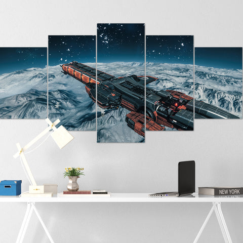 Star Citizen Canvas Wall Art - Drake Caterpillar Canvas Wall Art - Star Citizen Canvas Print - 5 Piece Canvas Wall Art Star Citizen Poster 04