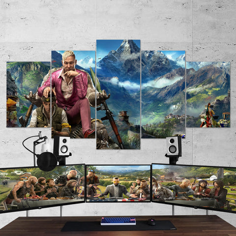 Far Cry 4 Pagan Min 5 Piece Canvas Wall Art Gaming Canvas 5PCFC008