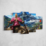 Far Cry 4 Pagan Min 5 Piece Canvas Wall Art Gaming Canvas 5PCFC007