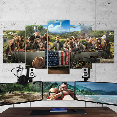 Far Cry Canvas - The Last Supper 5 Piece Canvas Wall Art Gaming Canvas 5PCFC002