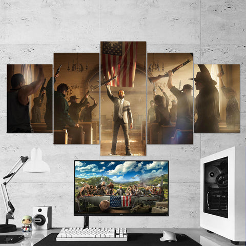 Far Cry 5 - 5 Piece Canvas Wall Art Gaming Canvas 5PCFC003