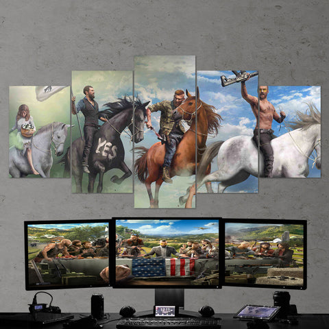 Far Cry 5 Art Work 5 Piece Canvas Wall Art Gaming Canvas 5PCFC006
