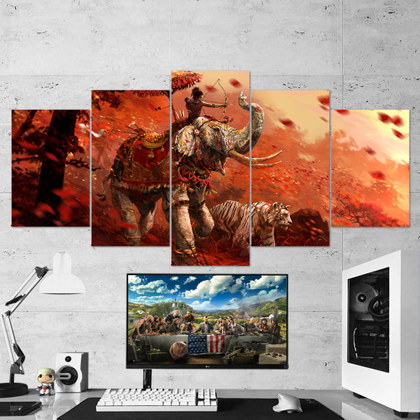 Far Cry Canvas - 5 Piece Wall Art Gaming Decor 5PCFC013