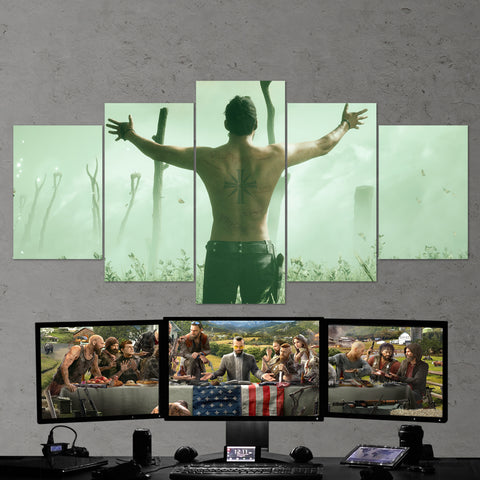 Far Cry 5 Sinner 5 Piece Canvas Wall Art Gaming Canvas 5PCFC012