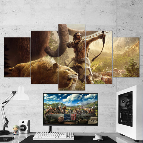 Far Cry Primal 5 Piece Canvas Wall Art Gaming Canvas 5PCFC009