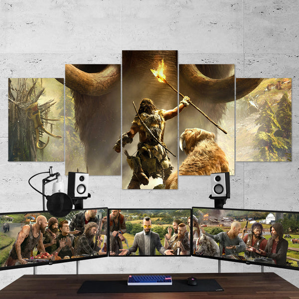 Far Cry Primal 5 Piece Canvas Wall Art Gaming Canvas 5PCFC010