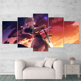 Fate - Stay Night 01 Anime 5 Piece Canvas Wall Art Gaming Canvas