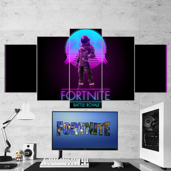 Fortnite 01 - 5 Piece Canvas Wall Art Gaming Canvas
