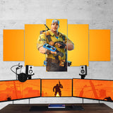 Fortnite 02 - 5 Piece Canvas Wall Art Gaming Canvas
