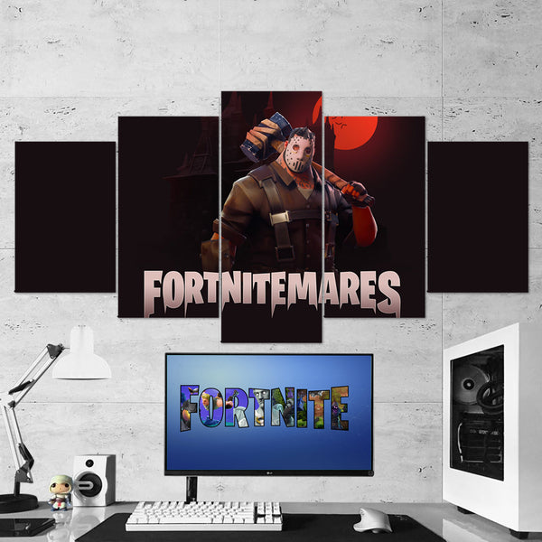 Fortnite 03 Fortnitemares 5 Piece Canvas Wall Art Gaming Canvas