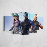 Fortnite 05 Teknique - Carbide - Battlehawk 5 Piece Canvas Wall Art Gaming Canvas