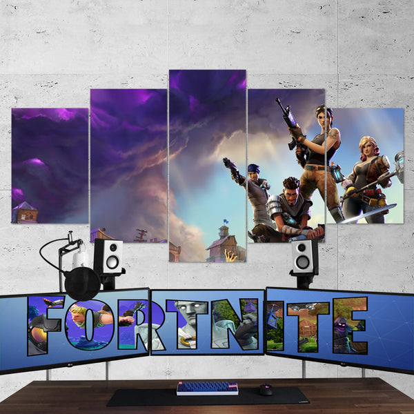 Fortnite 08 - 5 Piece Canvas Wall Art Gaming Canvas