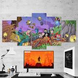Fortnite 09 - 5 Piece Canvas Wall Art Gaming Canvas