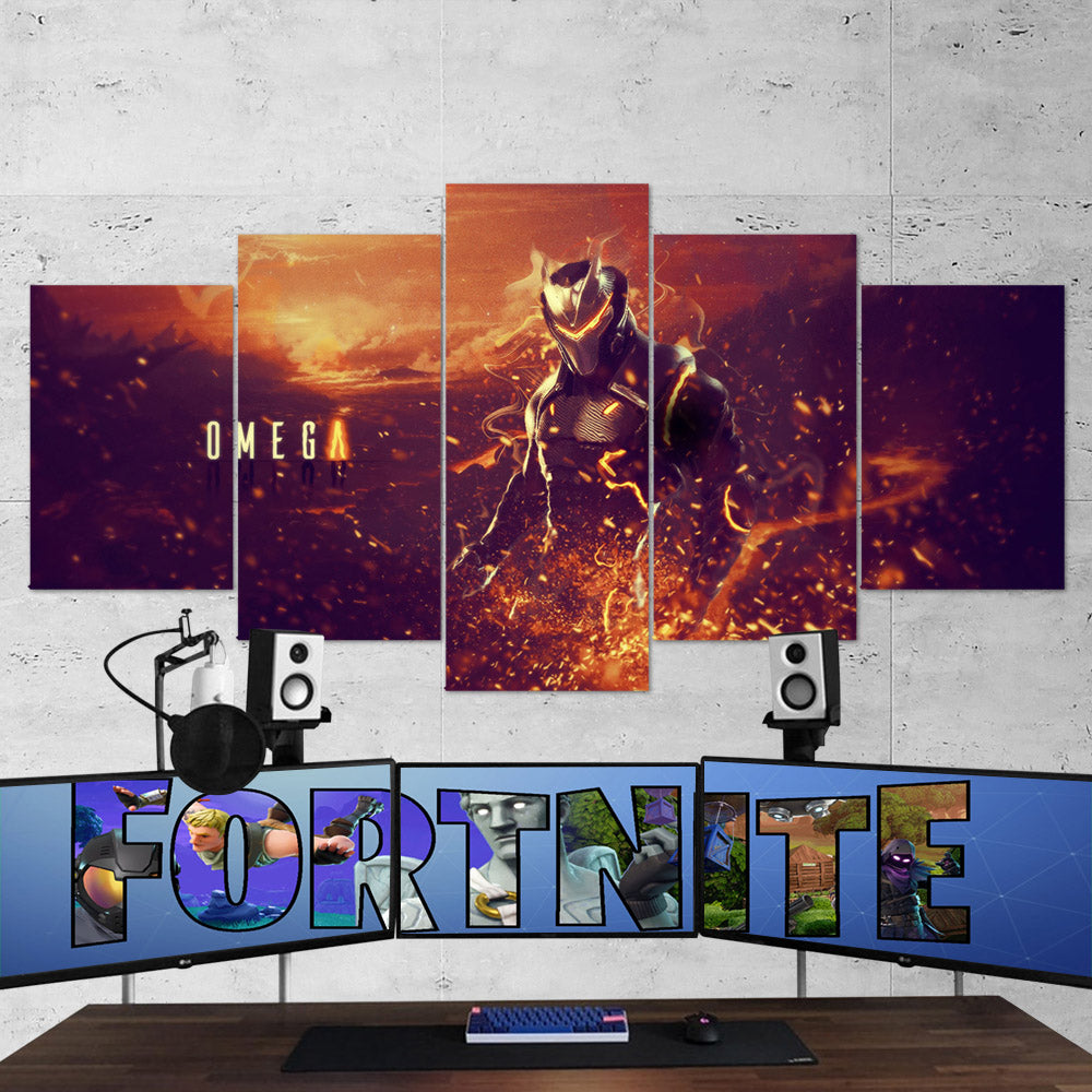 Fortnite 10 Omega 5 Piece Canvas Wall Art Gaming Canvas