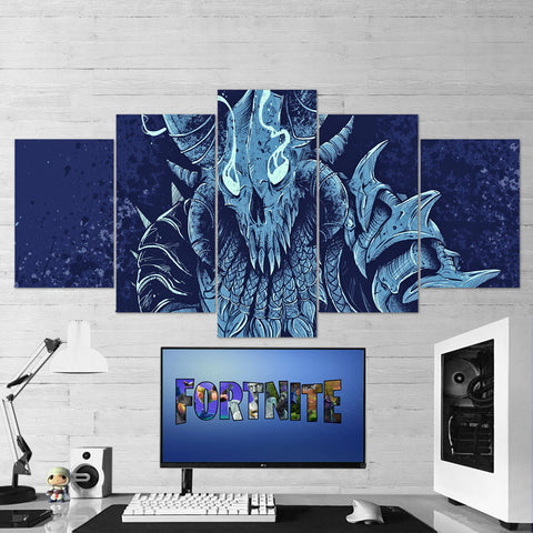 Fortnite 100 Ragnarok 5 Piece Canvas Wall Art Gaming Canvas
