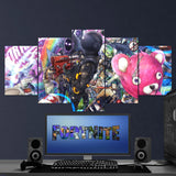 Fortnite 101 1st Anniversary 5 Piece Canvas Wall Art Gaming Canvas