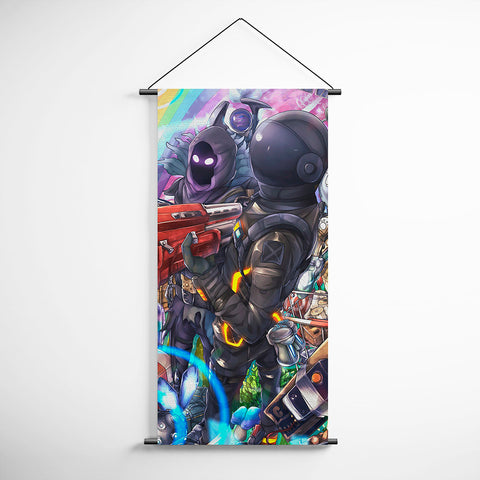 Fortnite 101 1st Anniversary - Dark Voyager - Raven Decorative Banner Flag for Gamers