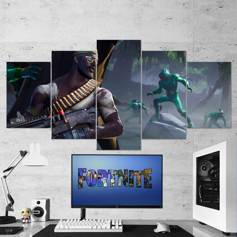 Fortnite 104 Bandolier 5 Piece Canvas Wall Art Gaming Canvas