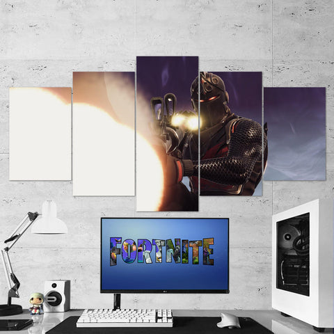 Fortnite 105 Black Knight 5 Piece Canvas Wall Art Gaming Canvas