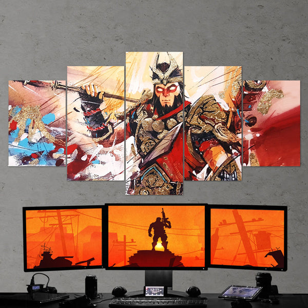 Fortnite 107 Wukong Art Work 5 Piece Canvas Wall Art Gaming Canvas