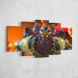 Fortnite 112 Wukong 5 Piece Canvas Wall Art Gaming Room Canvas