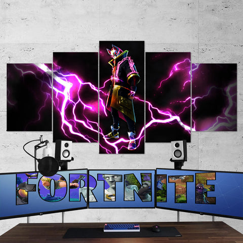 Fortnite 115 Drift Full Armor 5 Piece Canvas Wall Art Gaming Room Canvas