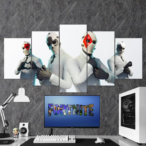 Fortnite 119 Wild Card High Stakes 5 Piece Canvas Wall Art Gaming Room Canvas