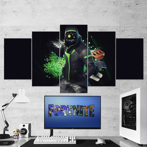 Fortnite 121 Archetype 5 Piece Canvas Wall Art Gaming Room Canvas
