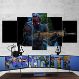 Fortnite 122 The Visitor 5 Piece Canvas Wall Art Gaming Room Canvas