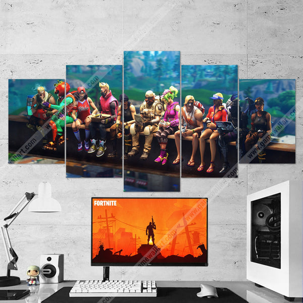 Fortnite 124 - 5 Piece Canvas Wall Art Gaming Canvas