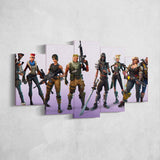 Fortnite 13 - 5 Piece Canvas Wall Art Gaming Canvas