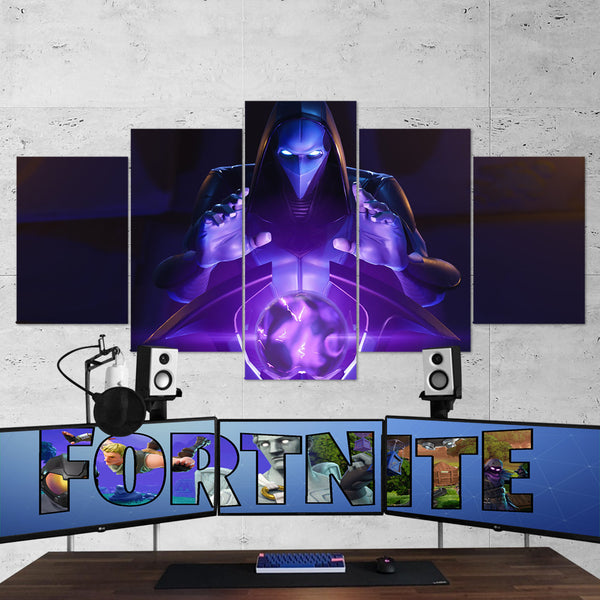 Fortnite Omen 16 - 5 Piece Canvas Wall Art Gaming Canvas